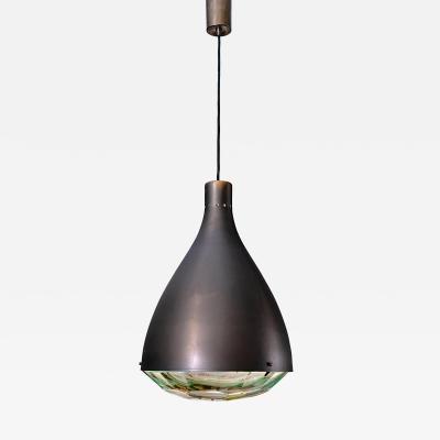 Italian Midcentury Style Chiseled Crystal Pendant Light