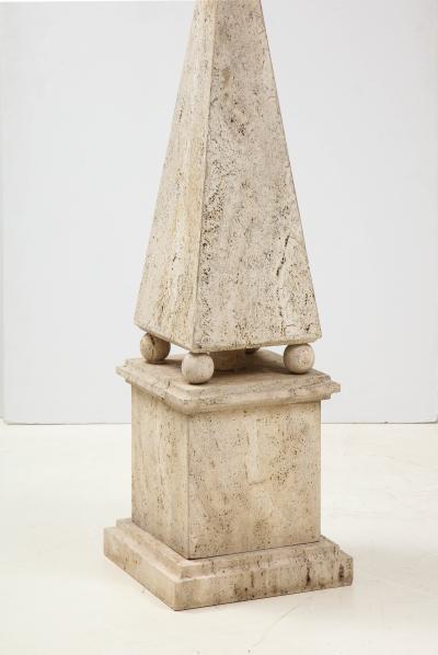 Italian Minimalist Roman Travertine Obelisk Italy 1970