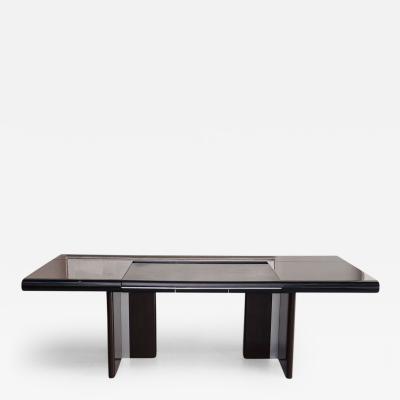 Italian Modern Ebony de Macassar and Chrome Desk Hans Von Klier for Skipper