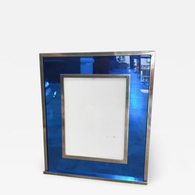 Italian Modern Picture Frame in Blu Plexiglass 1970s