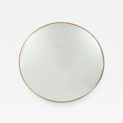Italian Modernist Brass Framed Mirror
