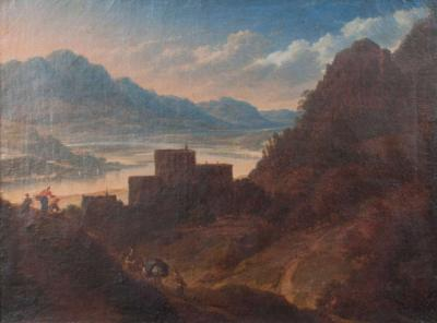 Italian Mountain Landscape Attributed to Jan Asselijn