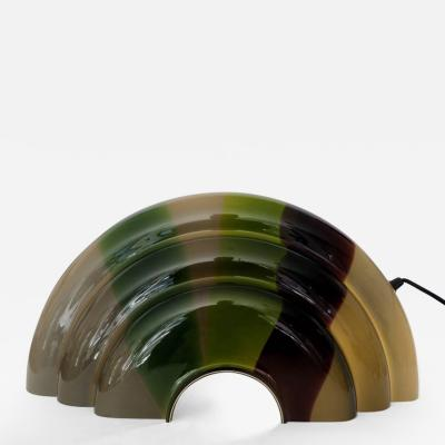 Italian Multi Color Blown Glass Table Lamp