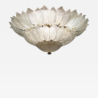 Italian Murano Glass Leave Ceiling Light Chandelier