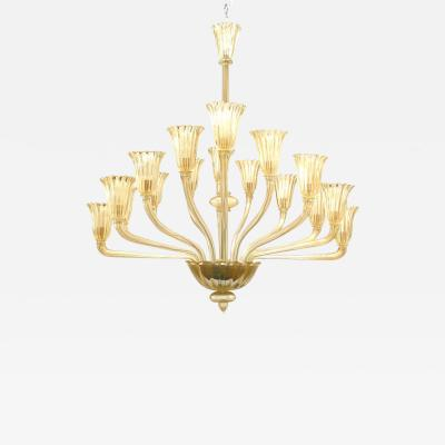 Italian Murano Gondola Shaped Chandelier