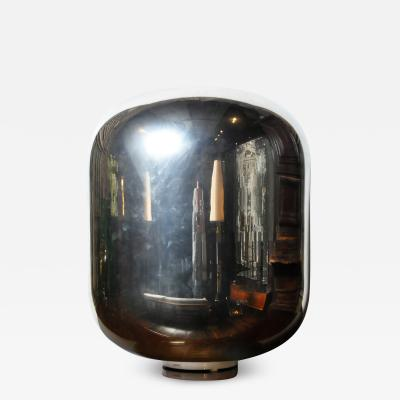 Italian Murano Silver Dome Floor Lamp