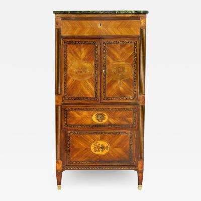 Italian Neoclassic Style Marquetry Cabinet