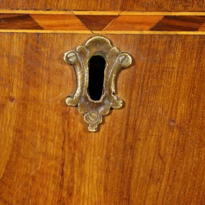 Italian Neoclassical Inlaid Walnut Chest Circa 1780
