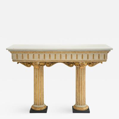 Italian Neoclassical Painted and Parcel Gilt Console Table