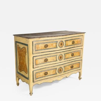 Italian Painted 3 Drawer Commode