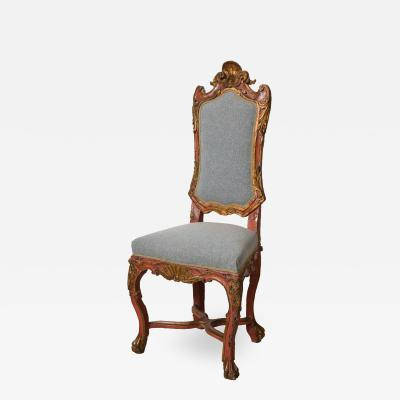 Italian Painted and Gilt Rococo Chair