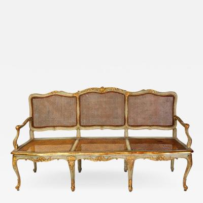 Italian Parcel Gilt and Painted Canape or Sofa 18th Century
