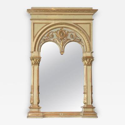 Italian Parcel Gilt and Painted Pier Mirror