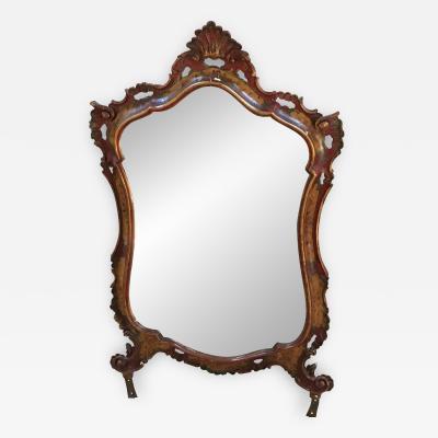 Italian Polychrome Baroque Mirror XIXth century