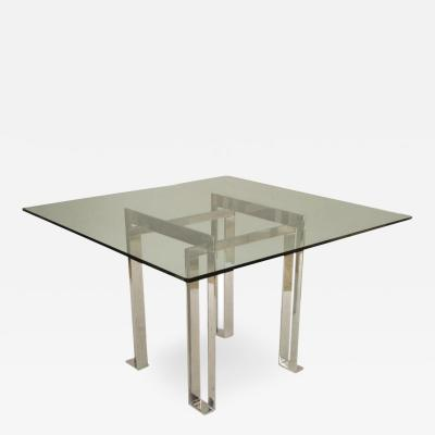 Italian Post War Design Metal and Glass Table