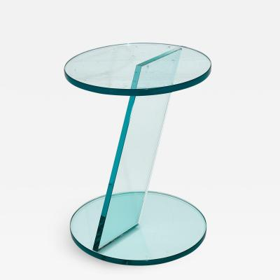 Italian Postmodern Glass Drink Table