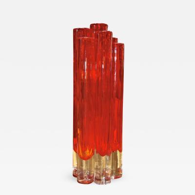 Italian Red Vase from Murano