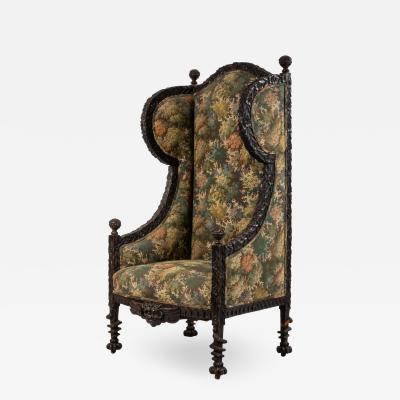 Italian Renaissance Floral Wing Chair