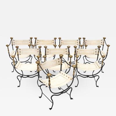 Italian Renaissance Style Set of Eight Armchairs