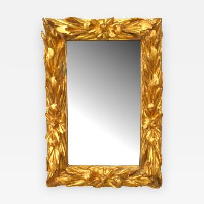 Italian Rococo 18th Cent Gilt wood Wall Mirror