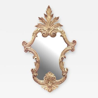 Italian Rococo Gilt Carved Wall Mirror