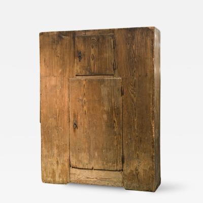 Italian Rustic Pine Armoire Cabinet