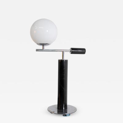 Italian School Italian Contemporary Table Lamp in Black Marble
