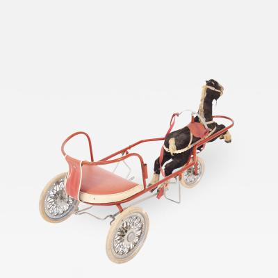 Italian School Italian Vintage Toy for Girl Carriage with Horse