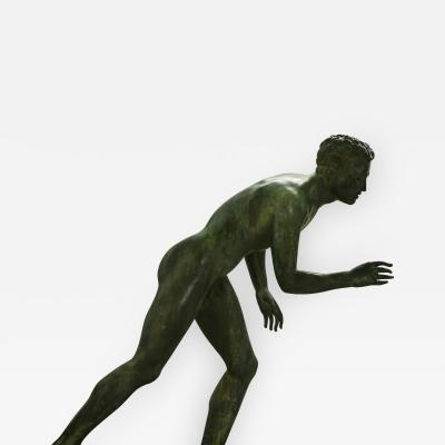 Italian School Nude Male Runner Classical Bronze After the Antique