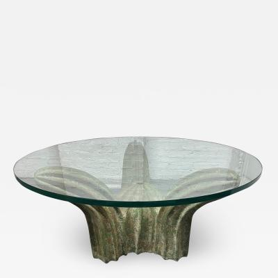 Italian Sculptural Glazed Ceramic Coffee Table
