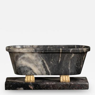 Italian Sculpture Grand Tour Carved Marble Reduction Of a Bath Rome Boschetti
