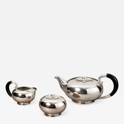 Italian Silver Tea Set after a model of Georg Jensen 1930s