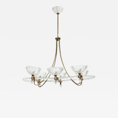 Italian Six Light Chandelier 1940s
