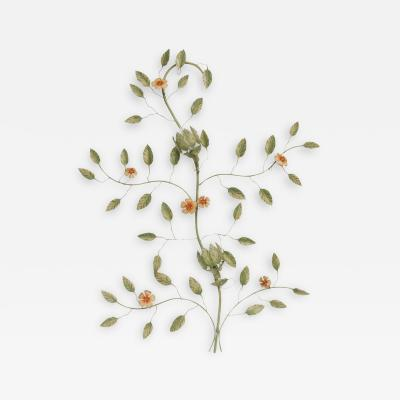 Italian Tole Flower and Branch Wall Sconce