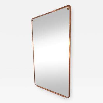 Italian Trapezoidal Mid Century Wood Wall Mirror 1950s