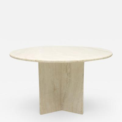 Italian Travertine Dining Table 1970s