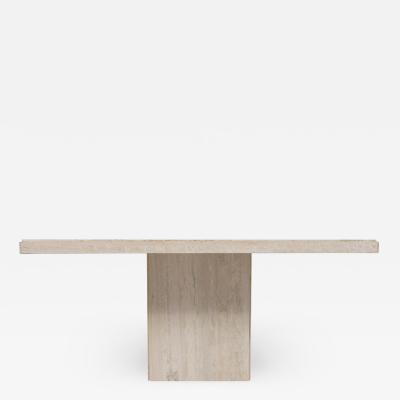 Italian Travertine Marble Dining Table