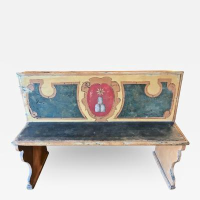 Italian Tuscan Bench 18th Century