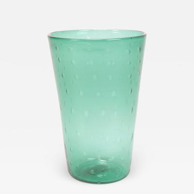 Italian Vase Vetro Verde di Empoli 60s
