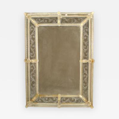 Italian Venetian Murano Wall Mirror