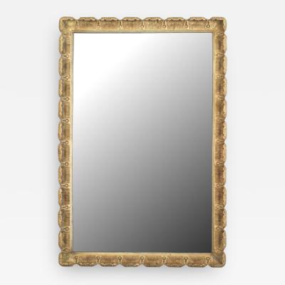 Italian Venetian Style Gilt Scalloped Wall Mirror