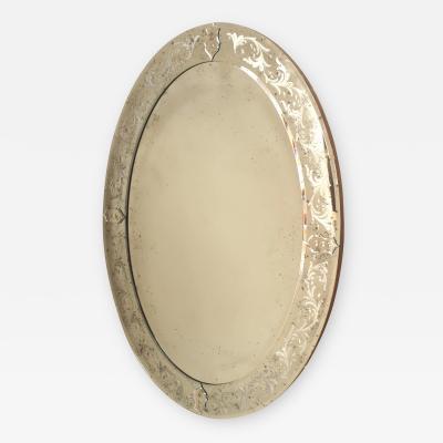 Italian Venetian Style Murano Oval Mirrors