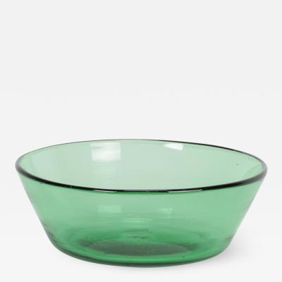 Italian Vetro Verde Empoli bowl 40s