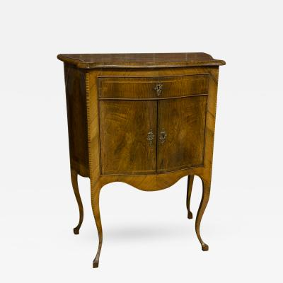 Italian Walnut Satinwood Side Cabinet