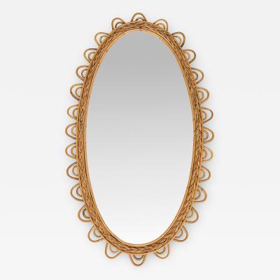 Italian bamboo mirror 50s