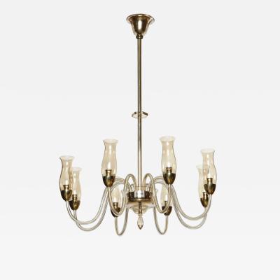 Italian hand blown glass chandelier