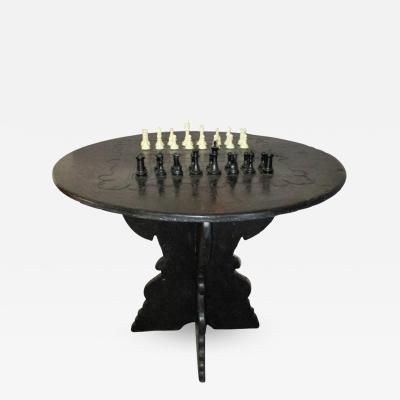 Italian late 19th Century Ardesia Game Table