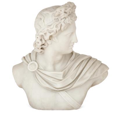 Italian marble sculpture of Apollo