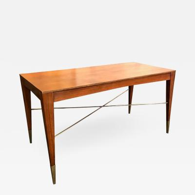 Italian modernist style walnut table desk