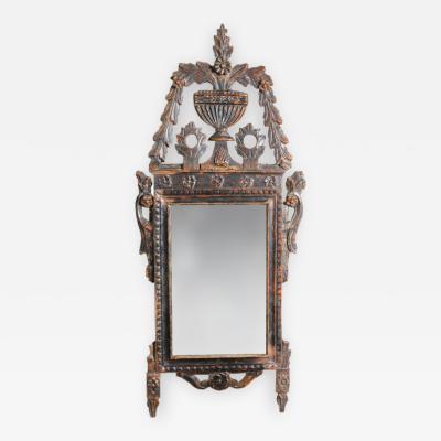 Italian silver gilt mirror